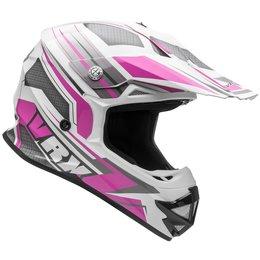 Vega Womens VRX VR-X Venom MX Motocross Offroad Helmet With Visor Pink