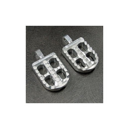 Joker Machine Adjustable Short Profile Serrated Footpegs Clear Anodized H-D Tri