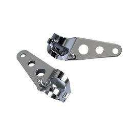 MC Enterprises Headlight Mounts Side Chrome Universal