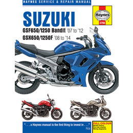 Haynes Repair Manual For Suzuki 07-14 GSF650/1250 Bandit GSX650/1250F M4798 Unpainted