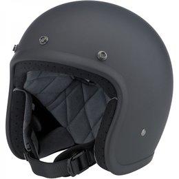 Flat Black Biltwell Mens Bonanza Open Face Helmet 2014