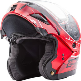 GMAX GM54S GM-54S Scribe Modular Snowmobile Helmet With Dual Pane Shield Red