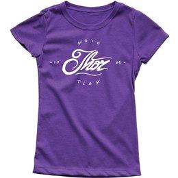 Thor Youth Girls Runner Crew Neck T-Shirt Purple