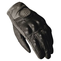 Black Fieldsheer Vanity Perf Leather Gloves