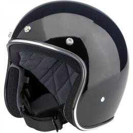 Gloss Black Biltwell Mens Bonanza Open Face Helmet 2014