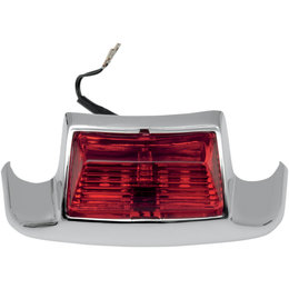 Drag Specialties Rear Fender Tip Light For Harley Chrome With Red Lens 2040-0582