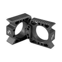 Hammerhead Axle Blocks Black For Suzuki RM-Z250 RM-Z450 RMZ250 RMZ450