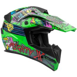 Vega Youth Mighty X Jr. Super Fly MX Motocross Offroad Riding Helmet With Visor Green
