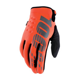 100% Mens Brisker MX Motocross Offroad Riding Gloves Orange
