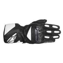 Black, White Alpinestars Mens Sp-2 Leather Gloves 2014 Black White