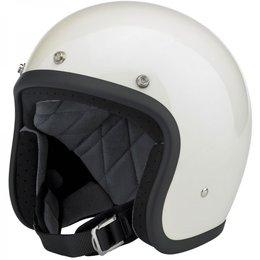Vintage White Biltwell Mens Bonanza Open Face Helmet 2014