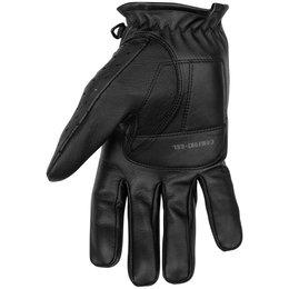 Black Brand Mens Bare Knuckle Perforated Leather Gloves Black
