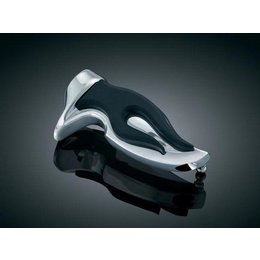 Kuryakyn Flaming Footpegs Without Adapters Chrome Black