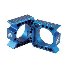 Hammerhead Axle Blocks Blue For Yamaha YZ125 YZ250 YZ250F 2010-2014