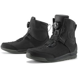 Icon Mens Patrol 2 BOA Waterproof Leather Boots Black