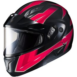 HJC CL-Max II 2 Ridge Dual Pane Modular Snowmobile Helmet Red