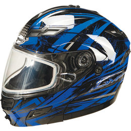 Blue Gmax Gm54s Modular Snow Helmet With Dual Pane Shield