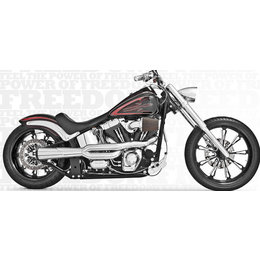 Freedom Performance Repl Heat Shields For American Outlaw High 2-Into-1 Chrome