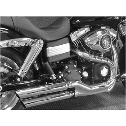 Chrome Cycle Shack 2-1 2 Inch Slip-on Exhaust Slash Down For Harley Fxdf 08-10