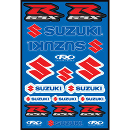 Factory Effex Factory Style Suzuki Sticker Decal Sheet Universal