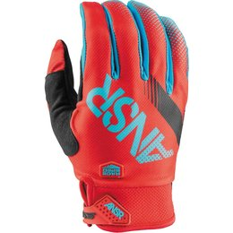 Answer Youth Sycron Textile Motocross MX Riding Gloves Red