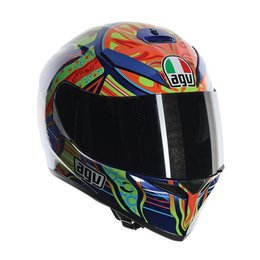 AGV K-3 SV Five Continents Full Face Helmet Blue