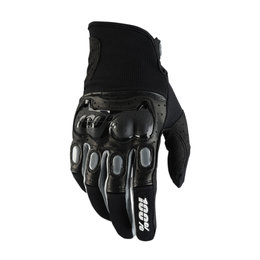 100% Mens Derestricted Leather Mesh MX Motocross Offroad Riding Gloves Black