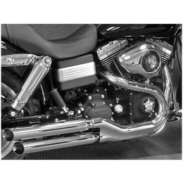 Chrome Cycle Shack 2-1 2 Inch Slip-on Exhaust Slash Out For Harley Fxdf 08-10
