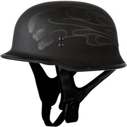 Fly Racing 9mm Ghost Skull Half Helmet