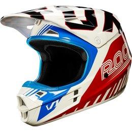 Fox Racing Limited Edition V1 Fiend MX Motocross Helmet White