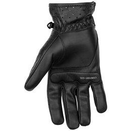 Black Brand Mens Filter Perforated Leather Gloves Black