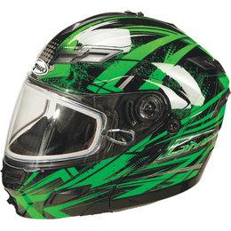 Green Gmax Gm54s Modular Snow Helmet With Dual Pane Shield