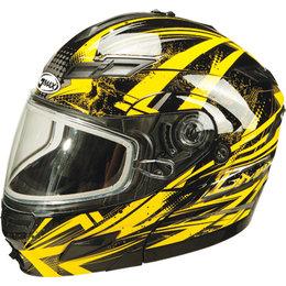 Yellow Gmax Gm54s Modular Snow Helmet With Dual Pane Shield
