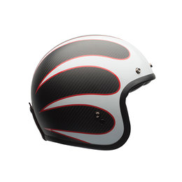 Bell Powersports Custom 500 Carbon Ace Cafe Tonup DOT ECE Open Face Helmet Black