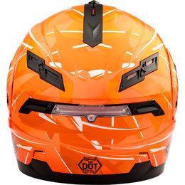 GMAX GM54S GM-54S Scribe Modular Snowmobile Helmet With Dual Pane Shield Orange