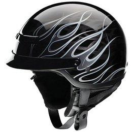 Black / Silver Z1r Nomad Hellfire Helmet Black Silver