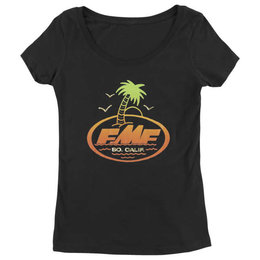 FMF Womens Captain Quint Short Sleeve Scoop Neck Cotton T-Shirt Black
