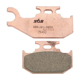 SBS ATV Off Road SI Sintered Rear Brake Pads Single Set Only Can-Am Yamaha 754SI Unpainted