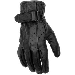 Black Brand Womens Breathe Perforated Leather Gloves