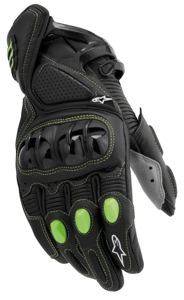$169.95 Alpinestars M1 Monster Energy Leather Gloves #139604