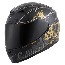 Scorpion EXO-R710 EXOR 710 Golden State Full Face Helmet Black