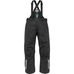 Icon Mens Raiden DKR Monochromatic Waterproof Armored Textile Bib Riding Pants Black