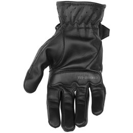 Black Brand Womens Breathe Perforated Leather Gloves Black