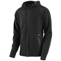 Troy Lee Designs Mens Genesis Lightweight Hooded Textile Jacket Black