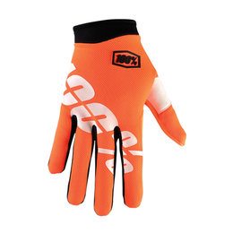 100% Mens I-Track Ultra-Lightweight MX Motocross Offroad Riding Gloves Orange