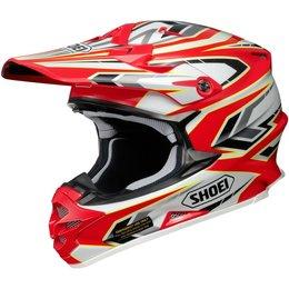 Red Shoei Vfx-w Vfxw Block-pass Helmet