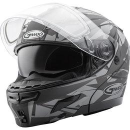 GMAX GM54S GM-54S Scribe Modular Snowmobile Helmet With Dual Pane Shield Black