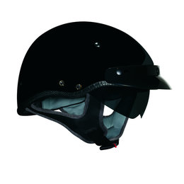 Gloss Black Vega Mens Xtv Half Helmet 2013