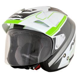 AFX FX-50 FX50 Signal Open Face Helmet Green