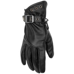 Black Brand Womens Crystal Leather Gloves